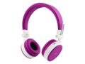 STREETZ bluetooth on-ear med mikrofon, v4.1 +EDR, rosa