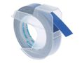 DYMO 3D Tape / 9mm x 3m / White Text / Blue Tape