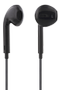 STREETZ semi-in-ear headset, answer button, 3.5mm, microphone,  black