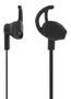 STREETZ stay-in-ear headset, 1-button remote, 3.5mm, microphone,  black
