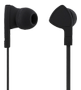 STREETZ in-ear headset, 1-button remote, 3.5mm, microphone,  black