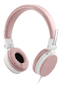 STREETZ headset for smartphone,  microphone,  1-button, 1,5m, pink