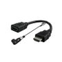 SCP The Dongler HDMI Port Saver Adapter Dongle - Type A to Type A, HDMI 4K@60 4:4:4 18 Gbps