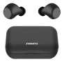 STREETZ True Wireless Stereo in-ear, dual earbuds, charge case, black