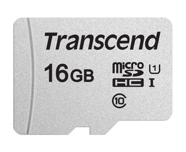 TRANSCEND Memory card Transcend microSDHC USD300S 16GB CL10 UHS-I U1 Up to 95MB/S (TS16GUSD300S)