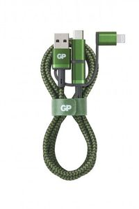GP USB-C & Lightning & Micro-USB to USB-A 3-in-1 Cable (MFi) 1m /405172 (405172)