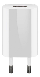 GOOBAY USB charger 1 A, white, Plastic bag - with 1 USB (44950)