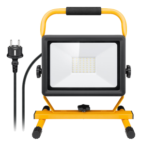 GOOBAY LED work light with stand, 50 W, black-yellow,  1.5 m, Standing (49983)