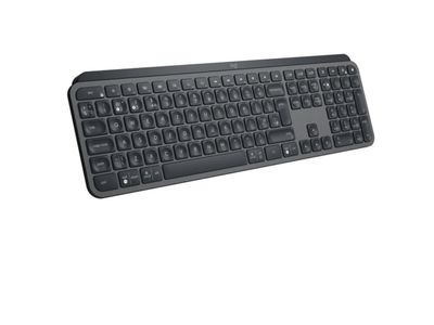 LOGITECH MX Keys Advanced Wireless Illuminated Keyboard, Graphite (No (920-009411)