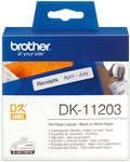 BROTHER Etikett Arkivmapper 17mm x 87mm Sort/Hvit (300) (DK-11203*3)