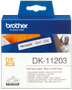 BROTHER Etikett Arkivmapper 17mm x 87mm Sort/Hvit (300)