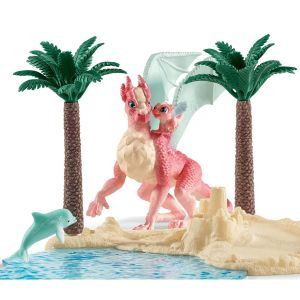 SCHLEICH Dragon Island with treasure (42436)
