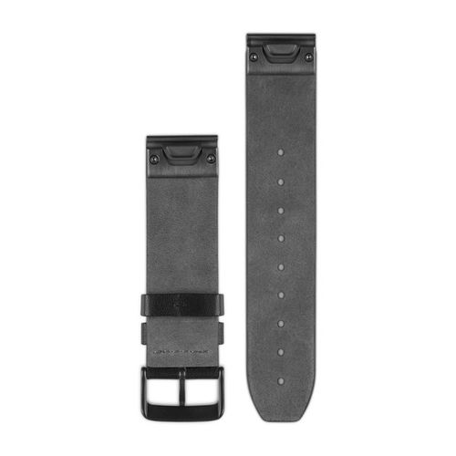 GARMIN QuickFit 22 Leather - Kellon ranneke - Musta (010-12500-02)