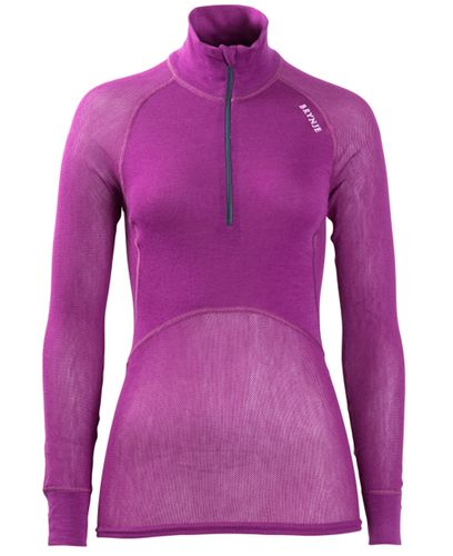 Brynje Lady Wool Thermo Light Zip - Paita - Liila (10141231VI)