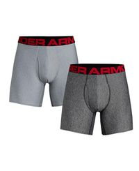 Under Armour Tech 6'' 2 Pack - Bokserit - Harmaa (1327415-011)