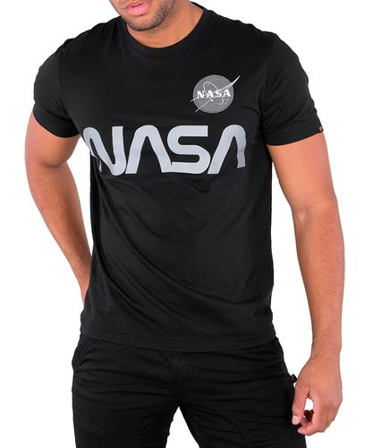 Alpha Industries NASA Reflective T - T-paita - Musta (193178501-03)