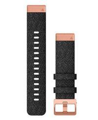 GARMIN Quickfit 20 Nylon Rose - Kellon ranneke - Musta (010-12874-00)
