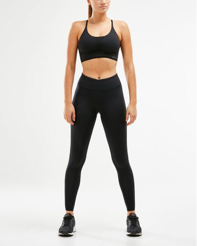2XU Perform Crop - Urheilurintaliivit - Black/Oil Sick (WR5973a-M)
