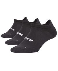 2XU Ankle 3-Pack - Sukat - Musta (WQ5469e)