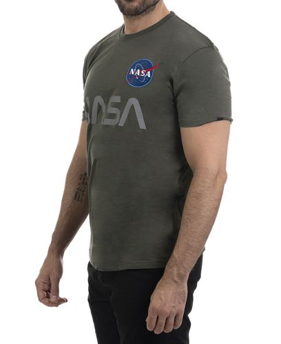 Alpha Industries NASA Reflective T - T-paita - Dark Olive (193178501-142-XL)