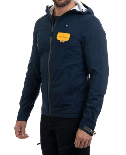 Amundsen Off Trail Rain - Takki - Faded Navy (MJA52.1.590-XL)