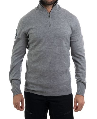 Amundsen Peak Half Zip - Paita - Light Grey (MSW02.2.800)