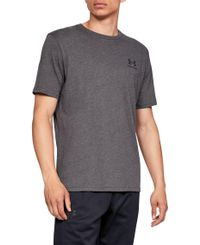 Under Armour Sportstyle Left Chest - T-paita - Hiilenharmaa (1326799-019)