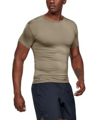 Under Armour Tactical HeatGear Compression - T-paita - Vaaleanruskea (1216007-499)
