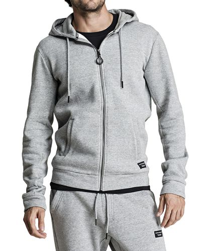 Björn Borg BB Centre Hoodie - Huppari - Light Grey Melange (9999-1114-90741)