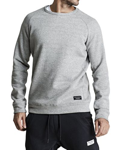Björn Borg BB Centre Crew - aluspaita - Light Grey Melange (9999-1115-90741)
