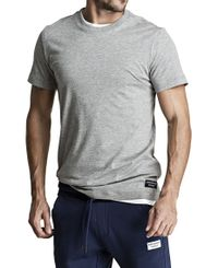 Björn Borg BB Centre Regular Tee - T-paita - Light Grey Melange (9999-1118-90741)