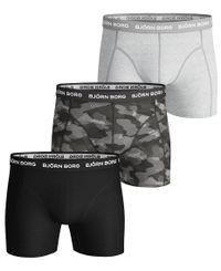 Björn Borg BB Shadeline Sammy Shorts 3pk - bokserit - Black Beauty (9999-1132-90651)