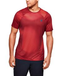 Under Armour RUSH HeatGear Fitted Printed - T-paita - Cordova