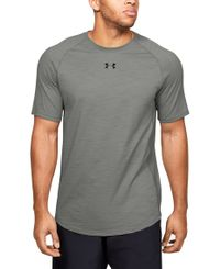 Under Armour Charged Cotton - T-paita - Gravity Green (1351570-388)