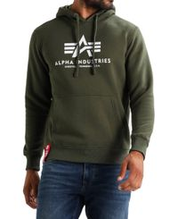 Alpha Industries Basic Hoody - Huppari - Harmaa (178312-257)