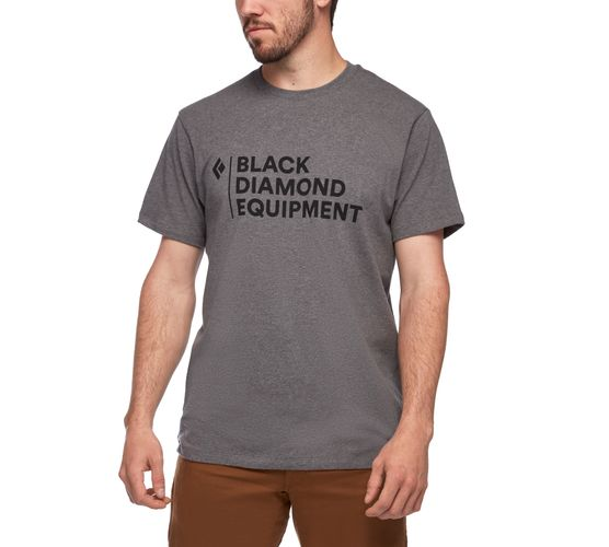 Black Diamond Stacked Logo - T-paita - Charcoal Heather (AP7300530036)