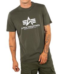 Alpha Industries Basic T - T-paita - Dark Olive (100501-142)