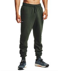 Under Armour Rival Fleece Joggers - Housut - Baroque Green/ Onyx White (1357128-310)