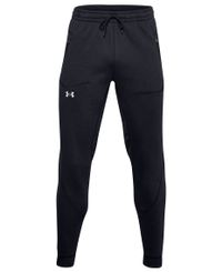 Under Armour Charged Cotton Fleece Jogger - Housut - Black/ Halo Gray (1357081-001)