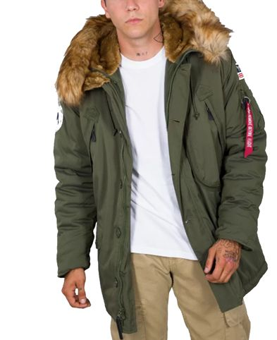 Alpha Industries Polar - Takki- Dark Green (123144-257)