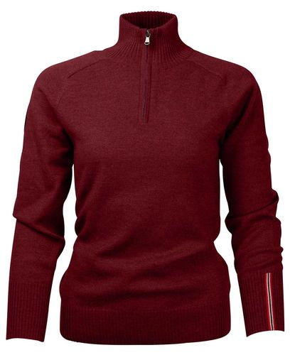 Amundsen Peak Half Zip Womens - Paita - Ruby Red (WSW02.2.155)