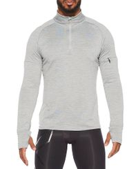2XU Pursuit Thermal 1/4 Zip - Paita - Grey Marle/ Silver Reflective (MR6231a-GR)