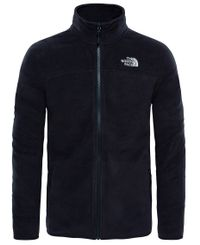 The North Face M 100 Glacier Full Zip - Takki - Musta (0A2UAQJK31)
