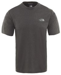 The North Face M Reaxion Amp Crew - T-paita - Grey Heather (0A3RX3X8A1)