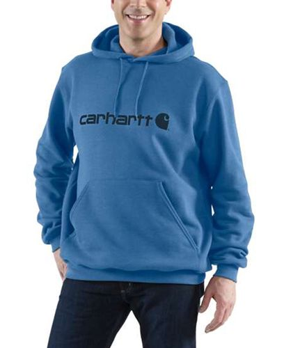 Carhartt Signature Logo - Paita - Coastal Heather (100074H09)