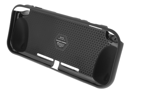 DELTACO Nintendo Switch Lite back cover, stand function, black (GAM-093)