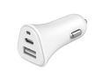 BIGBEN Just Green Car Charger with USB-A and USB-C ports (5.4A) White /JGCAC2USBAC5.4AW