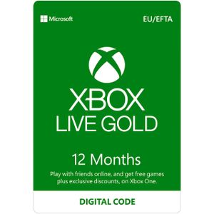 MICROSOFT MS ESD Xbox LIVE 12 Month Gold Eurozone Online ESD R17 (S4T-00026)