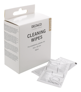 DELTACO Cleaning wipes for glass, 52pcs (CK1028)