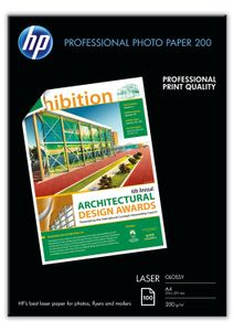 HP Professional Glossy Laser Photo Paper 200 gsm-100 sht/ A4/ 210 x 297 mm (CG966A)